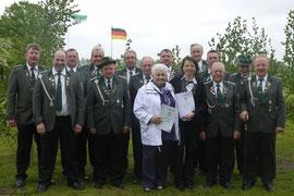 Einige der Geehrten vom Steinbrinker Schützenfest 2013