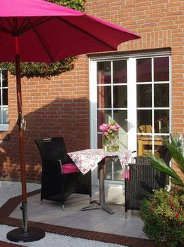 Ferienwohnung Gartenidylle Terrasse Ostfriesland Veenhusen Leer
