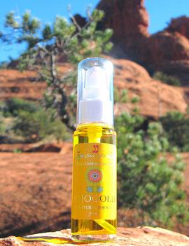 "♔ ""Mystic dew"" - a golden Oasis for your skin. 100%ナチュラルゴールデンホホバオイル ホホバスピリッツ『ホホゴールド』"