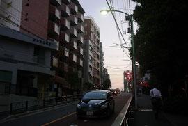 千駄木・団子坂。この坂の上に住んでいた。