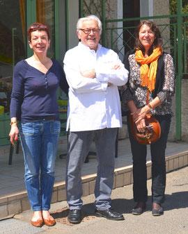 Stella, Daniel et Christine sous le soleil lozérien