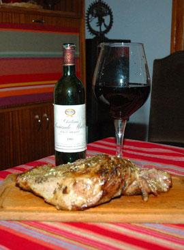 L'épaule d'agneau et son Bordeaux 1985