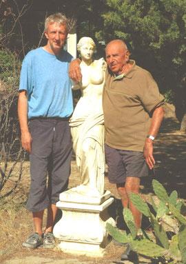 D. Hamers, vooraan in de veertig; A. Hardouin, achteraan in de tachtig, en Venus, tweede eeuw voor Christus