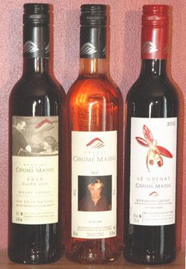 Nos trois vins doux