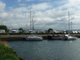 Hafen mit WoMo-Stellplatz in Honfleur