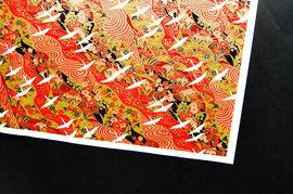 Chiyogami Siebdruck auf Kozo