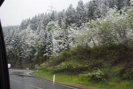 Sneeuw al ver voor de Arlbergtunnel