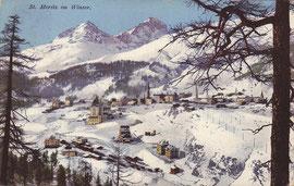 101-035b Verlag Engadin Press, Samedan. Karte gelaufen 1914