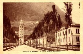 590-001 Verlag. Tipografica & Cartoleria Fiorentini & Co, Tirano. Karte gelaufen 8.6.1914