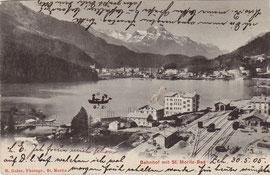 Verlag R. Guler, St. Moritz. Karte gelaufen 1905