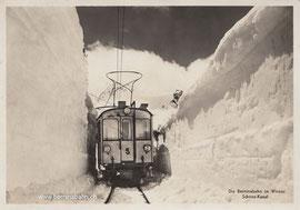 286-010 Eigenverlag Berninabahn. Karte gelaufen am 3.8.1957, etwa 45 Jahre nach der Aufnahme!
