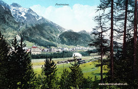 160-004 Verlag Engadin Press, Samedan. Karte gelaufen 28.7.1921