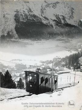720-100 Foto Chantarellabahn, ca. 1940. Foto: Phoweba AG, Basel / Dokumentationsbibliothek, St. Moritz