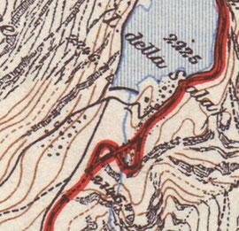 300-002 Ausschnitt aus Streckenplan BB von 1936