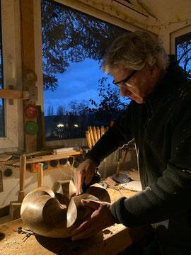 Thomas Pildner bei der Arbeit