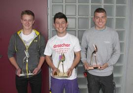 Das Siegertrio des Landeslehrlingswettbewerbes der NÖ Spengler (v.l.n.r.): Felix Gruber, Vladan Paunovic und Markus Kreuzer. Foto: zVg