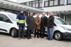 Übergabe der neuen Fahrzeuge für das Wasserwerk Krems. Foto: Stadt Krems.