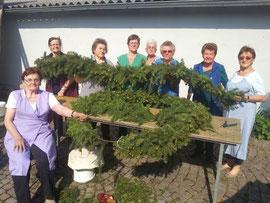 V.l.n.r.: Anna Kargl, Maria Dietz, Anna Schnabel, Margarete Maierhofer, Friederike Ruso, Ludmilla Sinek, Wilma Zwinz und Erika Vaishor. Foto: zVg.