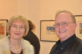 Dr.in Ruth Aspöck mit Kultur-Mitte-Obmann Gemeinderat Franz Kral. Foto: zVg