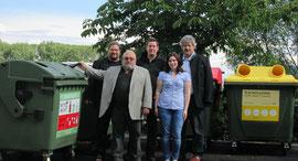 v.l.n.r.:  Die Gemeinderäte Mag. Klaus Bergmaier, Alfred Friedl, Thomas Jascha, Kerstin Schmidt und Vizebürgermeister Gottfried Haselmayer. Foto: zVg