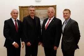 Der neue Lions-Vorstand zu Besuch bei Bürgermeister Dr. Reinhard Resch. Foto: Stadt Krems.