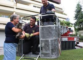 Erfolgreiche Rettungsaktion. Foto: FF Krems/M.Fasching