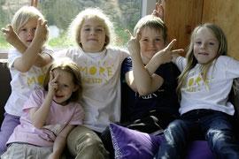 Ganz nach dem Motto auf den neuen Krems-T-shirts hatten die Kinder viel Spaß beim Probieren. Foto: Stadt Krems.