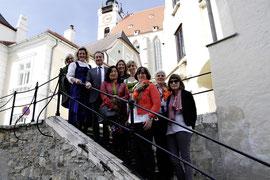 Die Kremser Guides führen ihre Gäste jeden Freitag, ab 17 Uhr, bei kostenlosen Stadtspaziergängen zu den schönsten Plätzen der Altstadt. Foto: Stadt Krems.