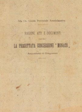 Dossier documentale datato 5 ottobre 1900