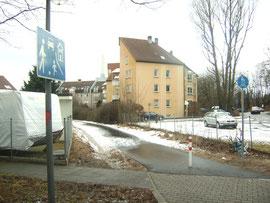 Fuß/ Radweg am Steiner Bhf