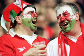 Rugby fans / courtesy of Photolibrary Wales