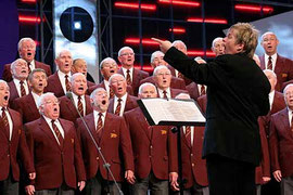 male voice choir competition / courtesy of Photolibrary Wales