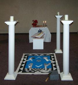 Tempelaufbau unseres Reisetempels