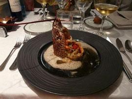 Homard rotî et son risotto au foie gras