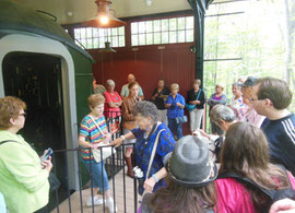 Our group outside the Pullman car