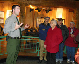 A Ranger Explaining About the Cotton Mills