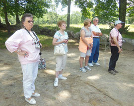 Some of our Travelers at Concord Bridge