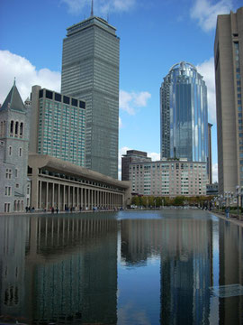 Prudential Center from the Christian Science Pool
