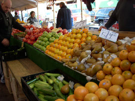 Fruit and Vegetables at Haymarket - Our Favorite!