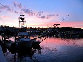 Sunset from the Boothbay Harbor Inn