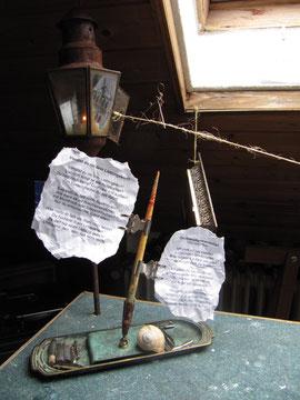 schattenschimmrige Schreibtischlaterne