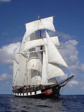 La Boudeuse sotto vela. Fotocredit: sito ufficiale