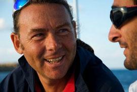 Con il biologo Emilio Riginella, durante la Campagna a Favignana, settembre 2008