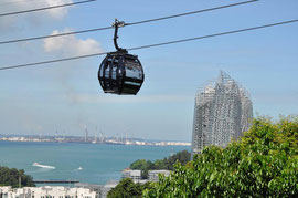 Cable car vom Mount Faber aus