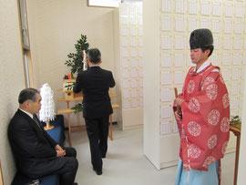 NHK大河ドラマ平清盛ゆかり和田宮(和田神社)祖霊殿(みたまや)新築ならびに外溝工事竣工式(竣工際)の写真