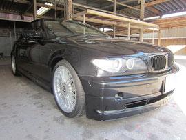 BMW アルピナ B3, 3.3L カブリオレ のアルミホイールの傷リペア(修理・修復・再生)後の車両全景写真