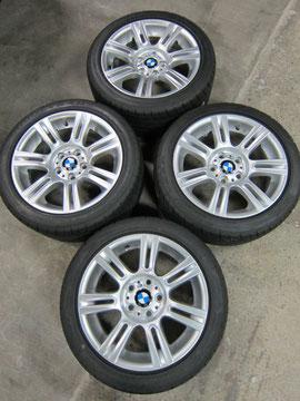 BMW325i Mスポーツ アルミホイールの、ガリ傷・すりキズ・塗装はげ のリペア(修理・修復・再生)及び ガラスコーティング加工の写真2