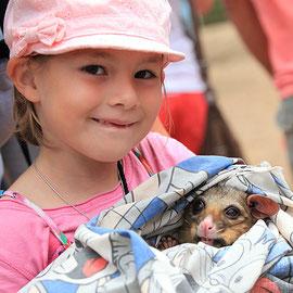 Lina mit Opossum