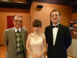 全日本ハーモニカ連盟の真野会長と。