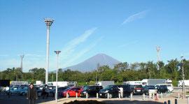 足柄SAからもよく見える富士山